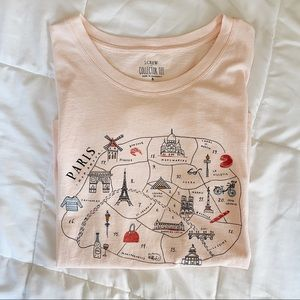 J.Crew Paris pink collectors tee size small